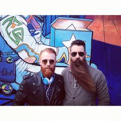 """mrincredibeard: """" Doing a shoot with @wearyourwhiskeyneat. Thank you @travisalexwalls for making us look good! #allyearbeard #incredibeard #beard #beards #mustache #mustaches #beardsday #funny #cool #fun #love #instagood #me #photooftheday #instamood..."""