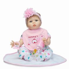 79.79$  Buy here - http://aliw0q.worldwells.pw/go.php?t=32790151988 - 55cm Soft Body Silicone Reborn Baby Doll Toy For Girls toys child Birthday Gift dolls fantasia bebe munecas reborn bonecas