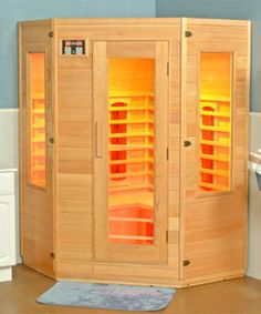 Charming Vitality 2 Person Corner Infrared Sauna   Must Have If I Can Ever Afford To