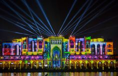 Dubai Festival of Lights - Feel Desain Berlin Festival, Dubai Festival, World Festival, Festival Lights, Lyon, Festivals Around The World, Festival Celebration, Palette, Exotic Places