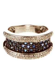 Savvy Cie - Diamond & Blue Sapphire Silver Ring on HauteLook Jewelry Box, Jewelry Accessories, Fine Jewelry, Jewelry Design, Blue Sapphire Rings, Diamond Rings, Blue Diamonds, Ring Armband, Love Ring