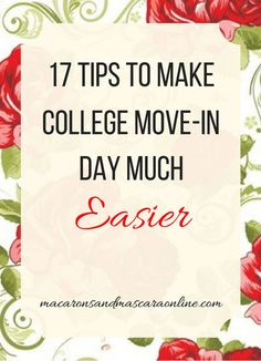 17 Tips To Make College Move-In Day Much Easier. 17 Tips To Make College Move-In Day Much Easier. College move-in day can be really stressful. There's so much to stay on top of. Here are some tips to keep in mind to help keep your head above water! College Dorm Checklist, College Packing Lists, College Essentials, College Planning, College Necessities, College Life Hacks, College Room, College Years, College Tips
