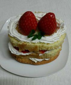 Simple   strawberry    cake /초간단   딸기   케이크