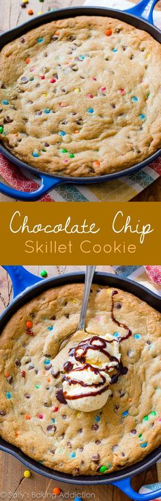 Sallys Baking Addiction from Sallys Baking Addiction M&M'S® Chocolate Chip Skillet Cookie