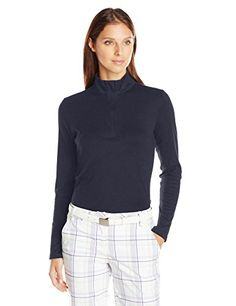 Cutter and Buck Women's Belfair Pima Half-Zip Long Sleeve Pullover * You can get more details by clicking on the image.