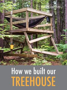 We built a simple treehouse over the July 4 weekend. Here is how we did it.
