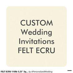 """FELT ECRU 110lb 5.25"""" Square Wedding Invitations"""