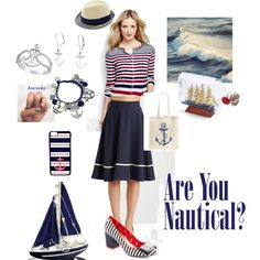 Modcloth contest entry by thefrugal-fashionista on Polyvore featuring polyvore, fashion, style, Lands' End, Tri-coastal Design, Bling Jewelry, CellPowerCases, simple, redwhiteandblue and Nautical
