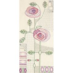 A stunning Mackintosh design by Rose Swalwell for Derwentwater Designs, the design features two delicate roses against a gorgeous antique white aida. Cross Stitch Rose, Cross Stitch Kits, Mackintosh Design, Bothy Threads, Morning Rose, Black Sheep Wool, Back Stitch, Le Point, Vintage World Maps