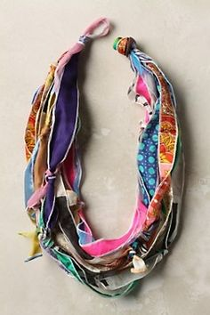 silk ribbon necklace scarf