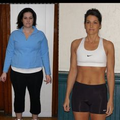 Before and after. One year. No crazy starving. Smart girl! Click the link to read her story.