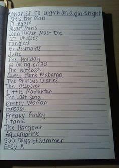 girls night move list!