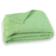 Brushed Mohair Throw Color: Pistachio Green (£210) ❤ liked on Polyvore featuring home, bed & bath, bedding, blankets, mint green blanket, mint green bedding, mohair blanket, green blanket and woven throw