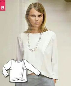 great blouse.  It woud be simple to modify a pattern to make this.