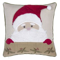 14 Karat Home Inc. Santa Claus Throw Pillow 14 Karat Home Inc. Burlap Throw Pillows, Throw Pillow Sets, Outdoor Throw Pillows, Decorative Pillows, Pillow Fight, Scatter Cushions, Christmas Store, Christmas Fun, Christmas Decorations