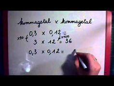 (24) kommagetal x kommagetal - YouTube