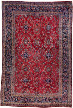 Manchester Kashan carpet  Central Persia  circa 1920  size approximately 7ft. 3in. x 10ft. 11in.