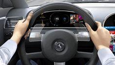 Steering wheel gesture control #automotive #UX