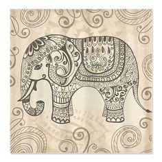Vintage Elephant Shower Curtain on CafePress.com