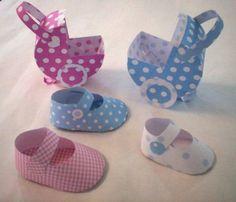 Moldes para zapatitos baby shower - Imagui