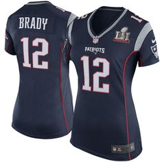 de54ee5d6 Tom Brady New England Patriots Nike Women s Super Bowl LI Bound Game Jersey  - Navy Patriots