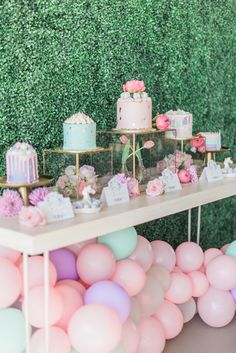 Magical pink 1st birthday