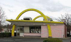 Original McDonald's building. We didn't go here on a road trip. My parents preferred A Drive Inn.