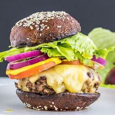 Champignon Portobello, Healthy Options, Healthy Recipes, Healthy Diners, Low Carb Keto, Good Food, Food And Drink, Lunch