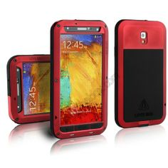 Waterproof Aluminum Gorilla Metal Cover Case for Samsung Galaxy Note 3 N9000 - Red US$35.99
