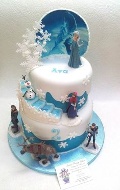 New Birthday Party Frozen Cake 43 Ideas Torte Frozen, Frozen Party Cake, Bolo Frozen, Disney Frozen Cake, Disney Frozen Birthday, Frozen Frozen, Cake Party, Elsa Birthday Cake, Frozen Themed Birthday Cake