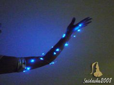 SUREH LED Lights Belly Dance Wing Isis Wing with Flexible Stick Light Up Butterfly Wings Glowing Performance Clothing for Adult Carnival Stage Halloween Christmas Party