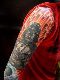 Darth Vader tattoo...