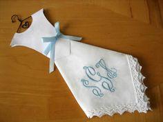 diy wedding dress hankie