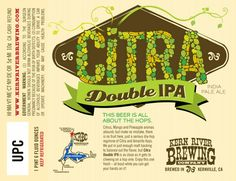 Kern River Brewing Company Citra Double IPA - must try ASAP