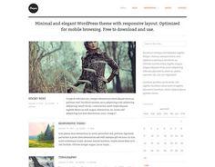 「シンプル・イズ・ベスト」、ミニマルデザインの無料WordPressテーマ素材20個まとめ - Photoshop VIP