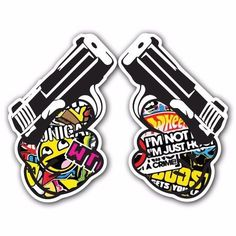 PISTOL SB4 Sticker Bomb Decal Car Macbook Laptop JDM Pro Gun Glock Hoonigan Bang #UnbrandedGeneric