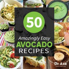 Easy Avocado Recipes~The good fat.  Eat fat to burn fat.