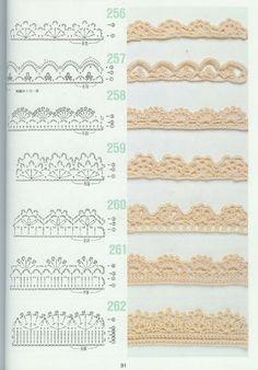 """Mis Pasatiempos Amo el Crochet: Mantas : """"Puntillas decorativas"""""""