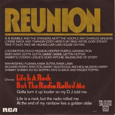 Reunion - I had completely forgotten about 'Life Is A Rock' !!!