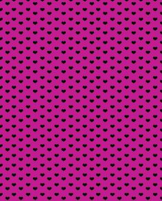 black hearts on fuschia background - free paper printable