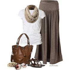 long skirts.