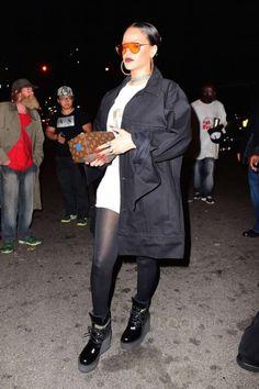 Rihanna Rocks Heads to Global Citizen After Party in NYC Celebstills R Rihanna Mode Rihanna, Rihanna Love, Rihanna Style, Rihanna Fenty, Daily Fashion, Fashion News, Global Citizen Festival, Wedge Boots, Boot Wedges