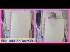 How to make a Art Journal From File Folders and Duct tape/ DIY Duct Tape Art Journal - YouTube