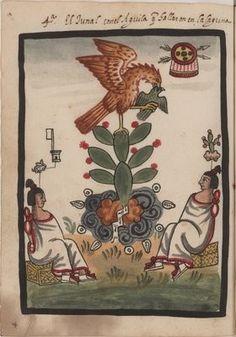 Fundacion de México - Tenochtitlán, codice antiguo.