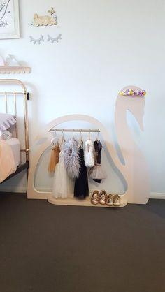 The Swan Display Clothing Rack / Devine Design By Derya Baby Bedroom, Baby Room Decor, Girls Bedroom, Bedroom Decor, Kids Room Design, Home Room Design, Home Decor Furniture, Kids Furniture, Furniture Vintage