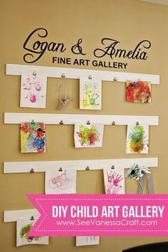 craft room gallery wall 35 – DecoRelated 42 Amazing Diy Craft Room Gallery Wall 17 Diy Tutorial Child Art Gallery Wall See Vanessa Craft 3 Art Wall Kids, Diy Wall Art, Diy Art, Craft Art, Art Kids, Art Children, Kids Art Walls, Displaying Kids Artwork, Artwork Display