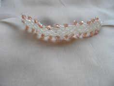 sand beads headband-gleaming stone processing with headband-baby photography-vaftiz tören bebek tacı