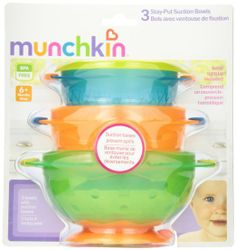 Amazon.com: Munchkin 3 Count Stay Put Suction Bowl: Baby