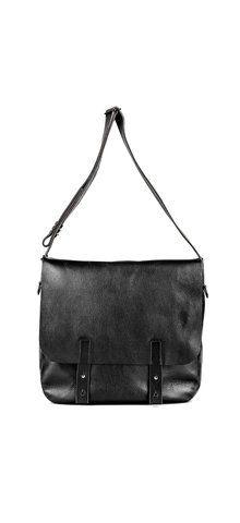 5e5d0302c10e Pebbled cow hide messenger bag. Imported Italian leather. Inside zip  closure. Flap over