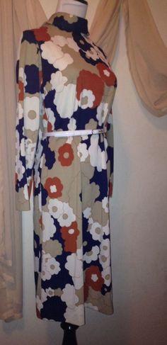 True Vintage 1970's Retro Floral Hippie Costume Dress M